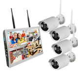"Mini 4HSC Kits NVR 1.0MEGAPIXELS WiFi Wireless IP câmera com o monitor de 10,1"" construído no disco rígido de 1 TB"