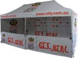 Изготовленный на заказ печатание Windproof хлопает вверх шатер сени с половинной стеной