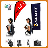 Изготовленный на заказ напольный полиэфир укладывает рюкзак флаг мешка для рекламы (Am-789)