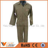 Combinaison faite sur commande de sûreté d'uniformes de coton de sergé de vêtements de travail de combinaison confortable de travail