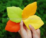 Силикона формы листьев крышки держателя зубной щетки чашка мытья творческого многоразового портативного выпивая