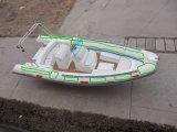 Barco de fibra de vidro com casco rígido inflável de casco com fibra de vidro de 4,2 m