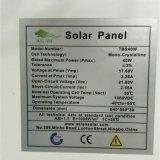 Panneaux solaires mono de qualité de pente un 40W avec le prix bas