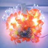 Zeichenkette-Licht mit Faser-Blume für Dekoration