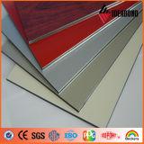 PVDF покрывая панель золота украшения внешней стены металлическую алюминиевую составную
