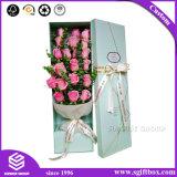 Rectángulo de almacenamiento de la impresión personalizada de lujo en el cuadro de flores