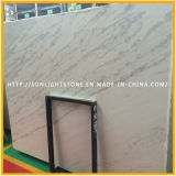 Dalle de marbre blanc poli, pierre chinoise chinoise Guangxi