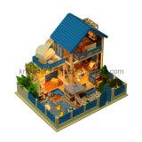 Brinquedo de madeira 3D Puzzle DIY Doll Hosue