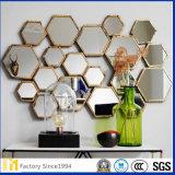 2mm 3mm 4mm 5mmの6mm明確で装飾的な六角形は壁ミラーを設計する