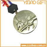 Kundenspezifische antike Goldsport Zin Legierungs-weiche Decklack-Medaille