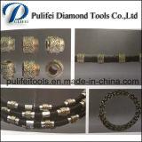O fio Quarrying de pedra do diamante do mármore do corte por blocos do granito viu