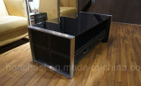 緩和されたガラス(CT-V1)が付いている金属の家具のコーヒーテーブル