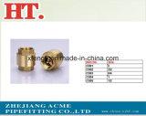 Brass 1/8pol conexão T de compressão com a Porca