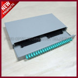 48 portas Fiber Optic LC montado em rack Multimode OM3 10G Patch Panel