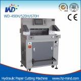Máquina hidráulica de corte de papel de control de programa hidráulico pesado Wtih pantalla táctil (WD-670H)