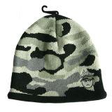 Senhoras Fashion Leopard chapéu de malha (JRK191)