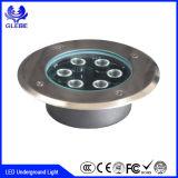 3*3W imprägniern IP67 9W LED Tiefbaulicht für druckgießenaluminium + Edelstahl