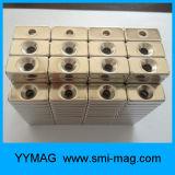 De Permanente Vierkante Magneet van de zeldzame aarde met Countersink Gat