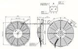 自動交互計算ブロアのファンモーターSpal Va11-Bp12/C-57A