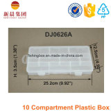 10 Compartimiento de plástico caja clara