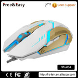 USB Backlit USB Wired Optical 6 Buttons Gaming Mouse para Desktop