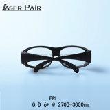 Hohe Schutz-Stufe für äh Laser-schützende Gläser Erl O.D 6+@ 2700 - Schutz-Treffen-Cer Laser-3000nm