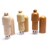 Bastone ambientale di memoria del USB dell'azionamento di legno a forma di pillola dell'istantaneo