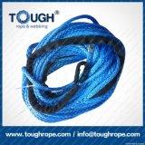 파란 색깔 9.5mmx30m 4X4 합성 윈치 밧줄 거친 밧줄