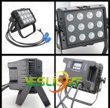 옥외 훈장을%s 고성능 LED 투광 조명등 200W RGB 12PCS*15W 옥수수 속 LEDs