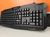 Neue Entwurf USB-Schnittstelle Djj218 - schwarze Spiel-Silikon-Tastatur