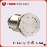IP65 Proteção Anti Vandal 19mm Momentary Stainless Steel Push Button Switch
