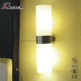 Zona residencial de iluminación LED Lámpara de pared de cristal con el hierro
