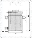 Martinetto idraulico a semplice effetto con il sollevamento di funzione di serratura