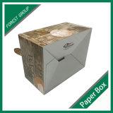 Caixa de embalagem de alimentos com papel de alimentação com alça