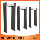 6 zonas a través de piezas de detector de metales
