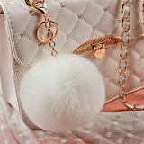 Nouvelle Mode Gris et Blanc boule de fourrure de lapin Poms POM