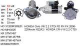 Honda Civic VII, dispositivo d'avviamento del Cr-v II Mitsubishi, Mhg025, Lrs02281, M2t85871