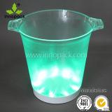 Benna di ghiaccio illuminata PS rotonda 5L con indicatore luminoso blu e verde e la batteria