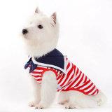 Vestiti della camicia dell'animale domestico del serbatoio del cane del ragazzo di stile del marinaio