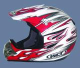 De Helm van Motorcross van de PUNT (121-White&Red)