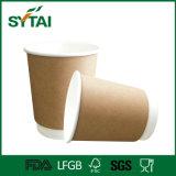Tazza di carta del Kraft del supporto doppio del caffè con il coperchio