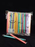Bubble Tea pailles Film individuel emballé avec Multiple-Colors