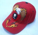 Gorra de béisbol roja con la insignia - 1015
