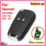 Tasto astuto a distanza di vibrazione Keyless per Chevrolet con 2 la lamierina del chip Hu100 dei tasti Ask433MHz ID46