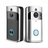 WiFi 720p HD cámara de seguridad en el hogar con hablar de dos vías, visión nocturna infrarroja y detección de movimiento activado Timbre timbre de llamada de vídeo inteligente