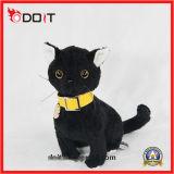 Gato recheado macio Cute Black Plush Cat Toys