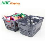Супермаркет пластиковые наращиваемые стороны корзину с двойной провод ручки