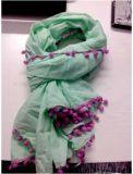 Colorfastness 미국 매력적인 소녀 동점 염료 스카프 장비