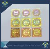 3D Texto Micro Holograma de seguridad de la impresión de etiquetas