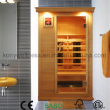 1 Leute trocknen Sauna-Raum für Innengebrauch das preiswerteste Sauna-Haus, die weites Infrarot-heiße Therapie-Protokoll-Kabine für Gewicht-Verlust und die Gesundheit